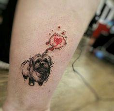 tatuagem de shihtzu